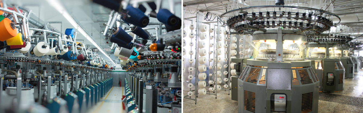 250多台高速纺织机